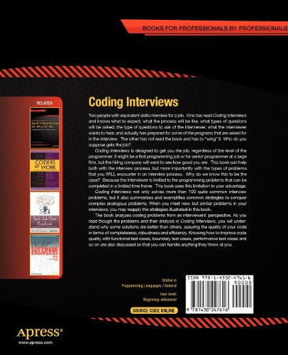 coding interviews questions analysis & solutions pdf