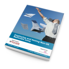 Employing and Vetting Non-UK Nationals 2009 - Documentation