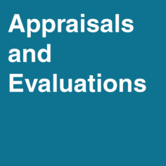 Appraisals and Evaluations