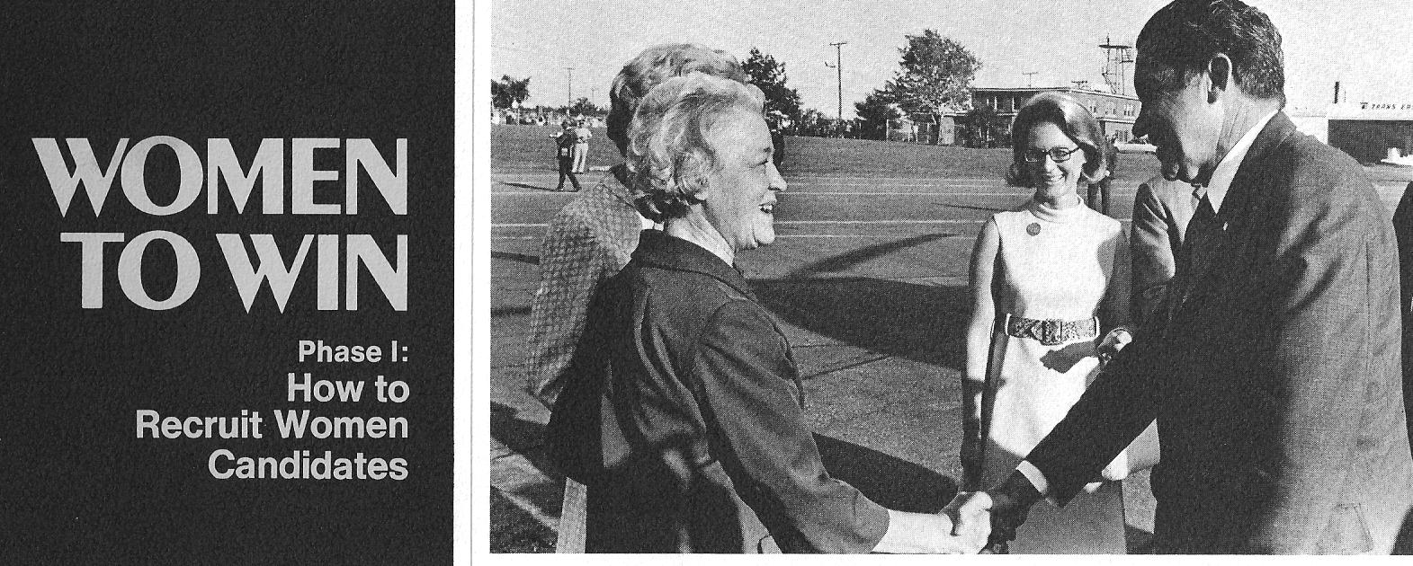 Senator Margaret Chase Smith campaigns with Richard Nixon