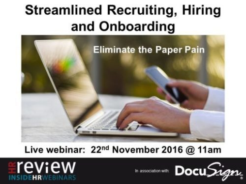 Steamlined Recruiting, Hiring and Onboarding: Eliminate the Paper Pain