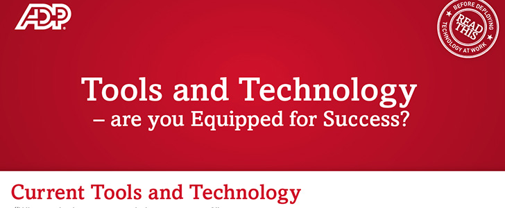 Infographic: Tools and technology – are you equipped for success?