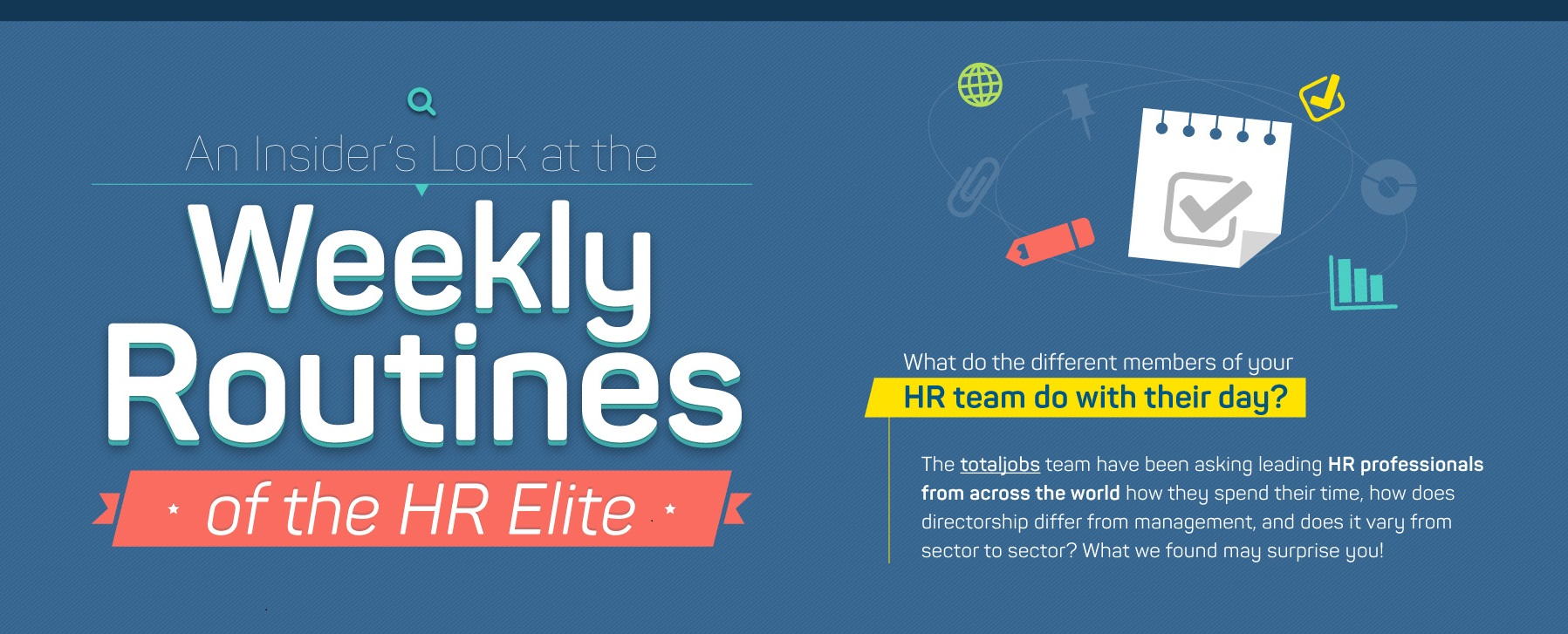 Infographic: The weekly work routine of the HR elite