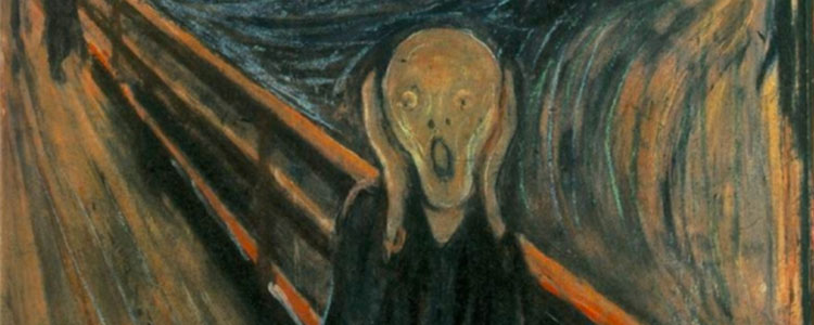 Edvard Munch's The Scream. The character depicted had just been informed that his Christmas party had not been cancelled this year