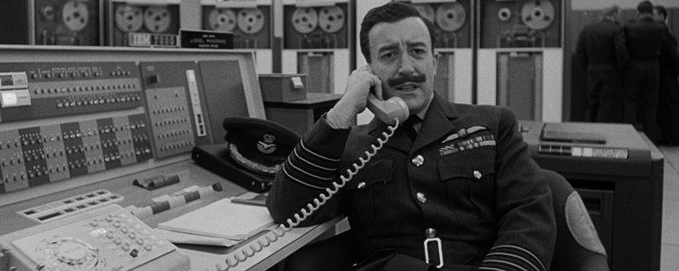 Group Captain Lionel Mandrake from Stanley Kubrick's 'Dr Strangelove'.