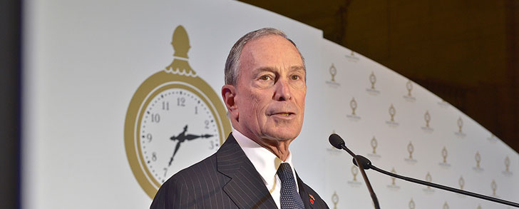 Michael R. Bloomberg receives honorary knighthood for philanthropic contributions to the UK
