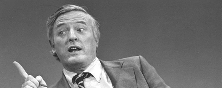 William F Buckley, the founding editor of National Review magazine