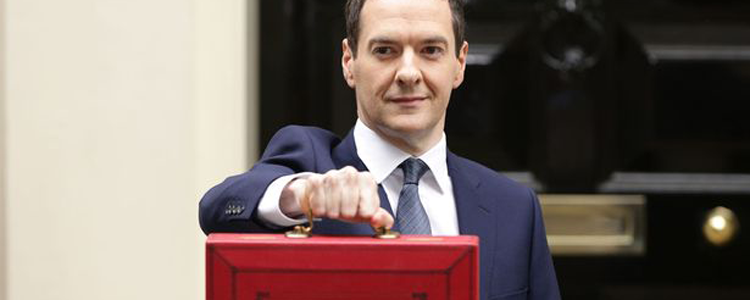 The Chancellor, George Osborne, fooling about outside Downing Street before last month's Budget