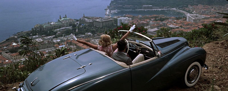 Cary Grant and Grace Kelly taking it easy in the hills overlooking Monaco