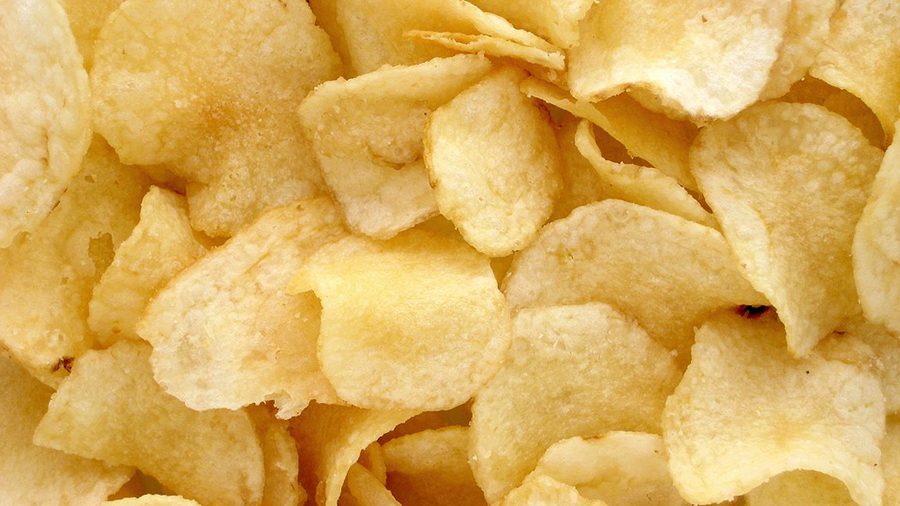 What are workers favourite snacks to turn to whilst stressed?