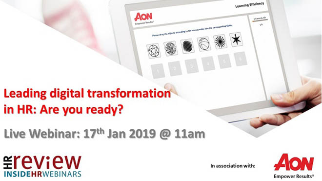 Leading Digital Transformation in HR: are you ready? 17/01/2019