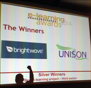 Silver for Brightwave and UNISON at the 2014 e-Learning Awards