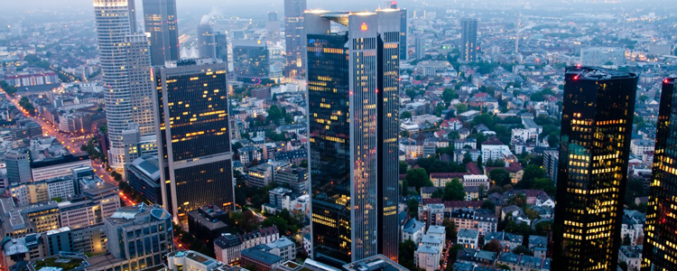 Frankfurt, one of Germany's financial capitals