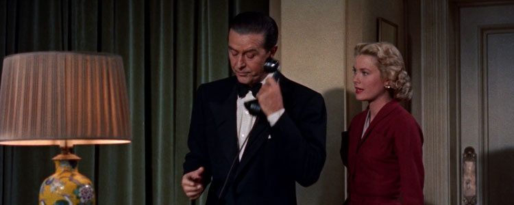 Answering the phone strikes fear into the hearts of office workers. Pictured: Grace Kelly and Ray Milland putting the telephone to deadly use in Alfred Hitchcock's Dial M For Murder.