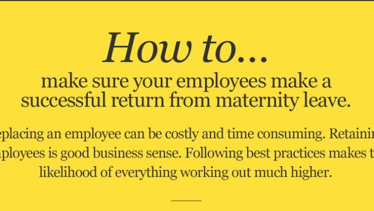Infographic: How to make sure employees return from maternity leave successfully
