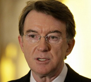"""""""We do not have to resign ourselves to relative economic decline"""" Lord Mandelson"""