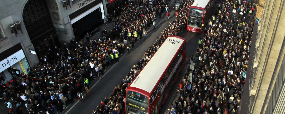 Oxford Street in busier times, the British high street is thought to be struggling in the run up to Christmas this year