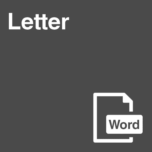 Letter Template in Word Format