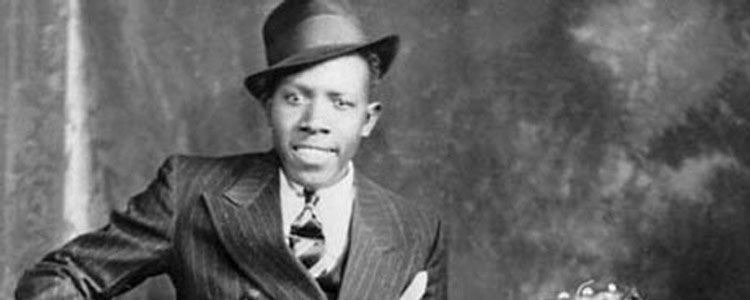 Robert Johnson, the man who sold his sold to the devil at the crossroads in return for blues prowess, singing the January blues