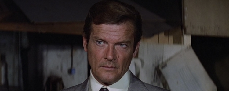 Famous charmer Roger Moore, playing notable charmer 007
