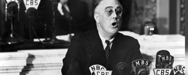 The speeches of President Franklin Roosevelt have been credited with holding the US together during the Great Depression and the Second World War