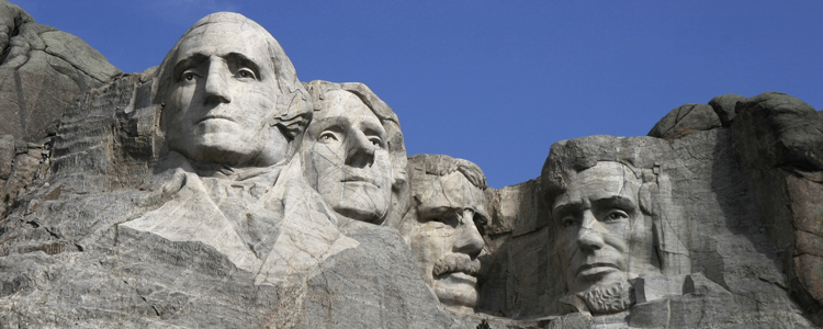 Mount Rushmore, the ultimate honour for the US's greatest leaders