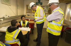 Apprenticeships' advisor meets Carillion's new apprentices