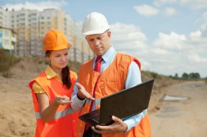 managers on building site