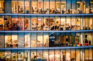 bright office building