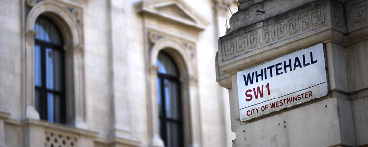Whitehall, the home of the British Government, is shrinking