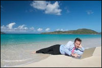 Holidays for business owners equals a combination of sun, sea and stress